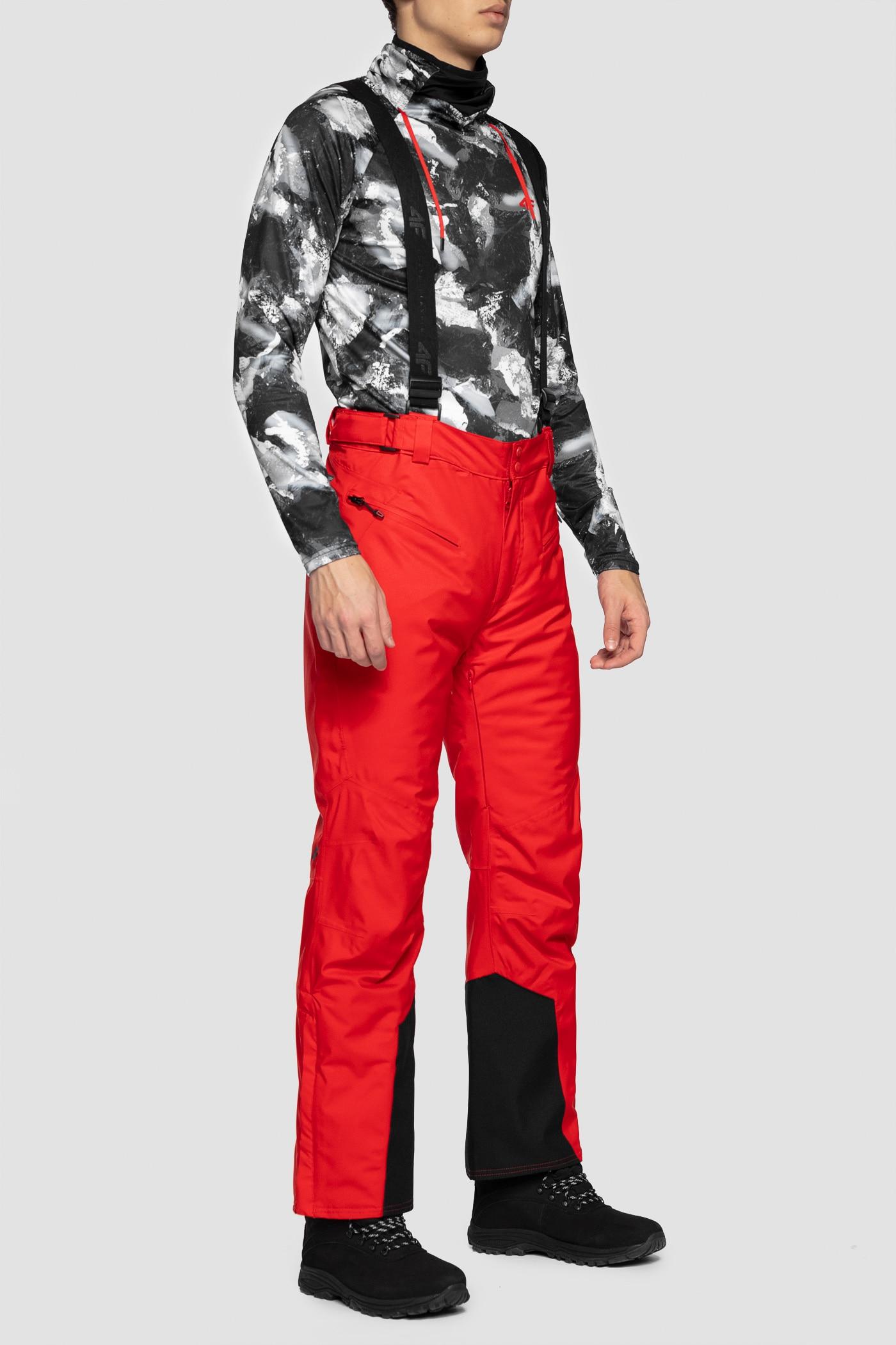e671afd5f Spodnie narciarskie męskie SPMN251 - czerwony