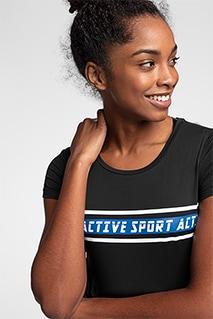 Koszulka treningowa damska TSDF152 - głęboka czerń