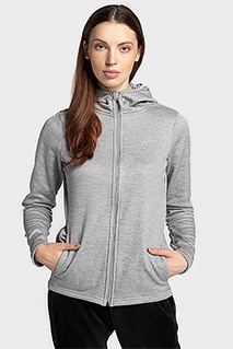 Bluza damska BLD303 - chłodny jasny szary melanż