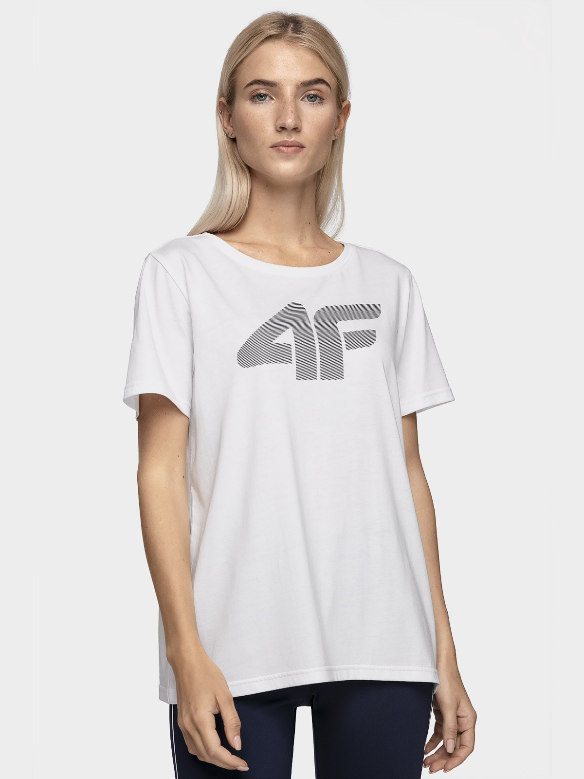 T-shirt damski TSD304 - biały