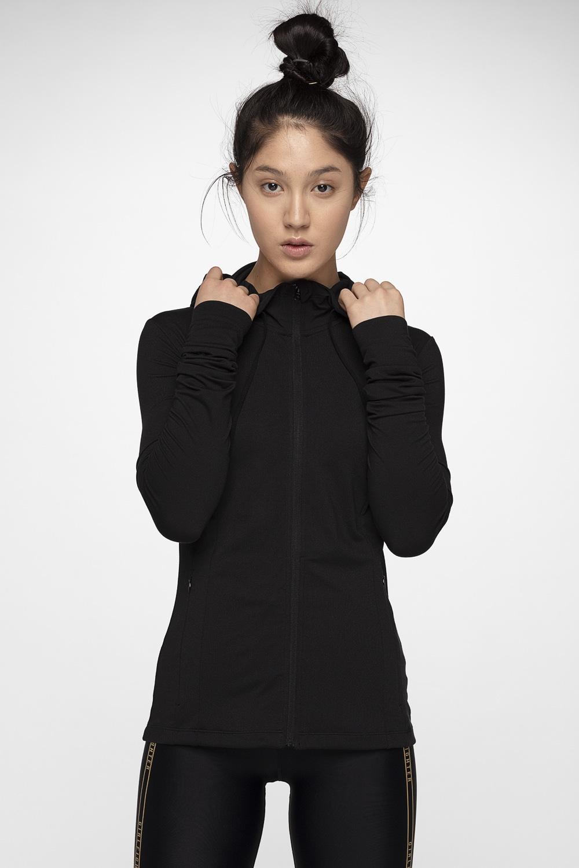 Bluza treningowa damska BLDF001 - głęboka czerń