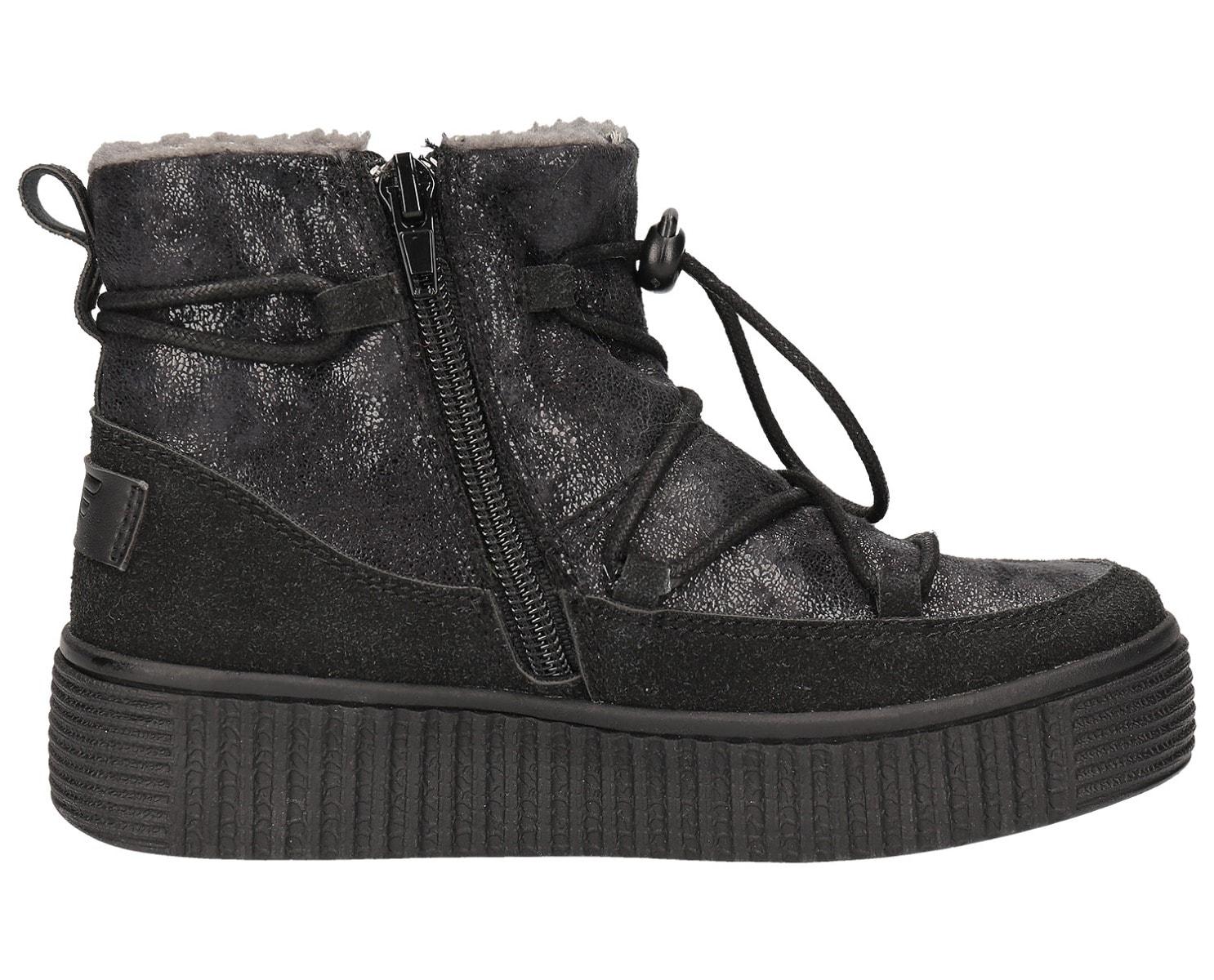 Buty jesienne dla dużych dzieci (dziewcząt) JOBDA202 – głęboka czerń