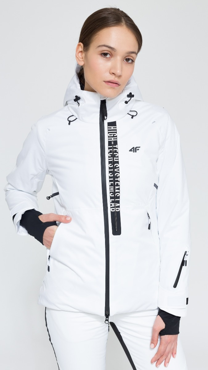 Kurtka narciarska damska KUDN161 - biały