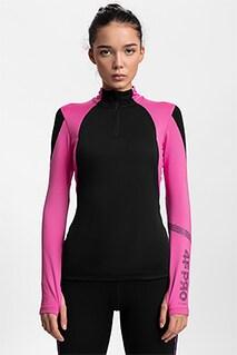 Bluza funkcyjna damska 4FPro Skirunning BLDF400 - czarny