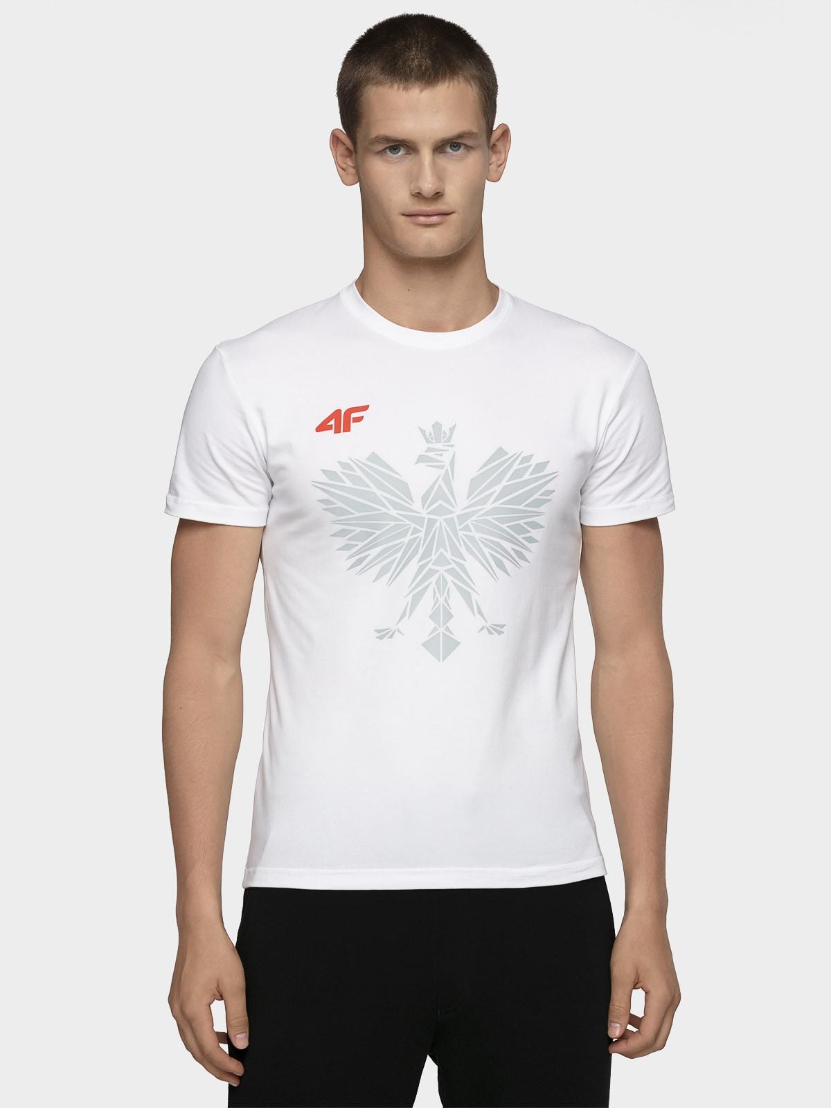 63dc281f659843 Koszulka kibica PZLA męska TSMF101 - biały