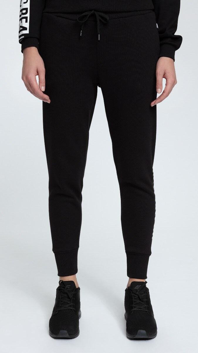 Spodnie dresowe damskie SPDD002 - czarny