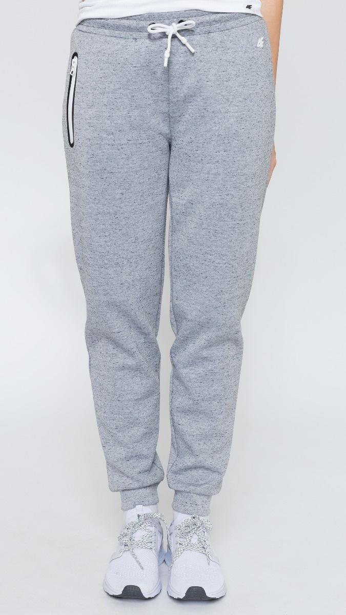 Spodnie dresowe damskie SPDD252 - chłodny jasny szary