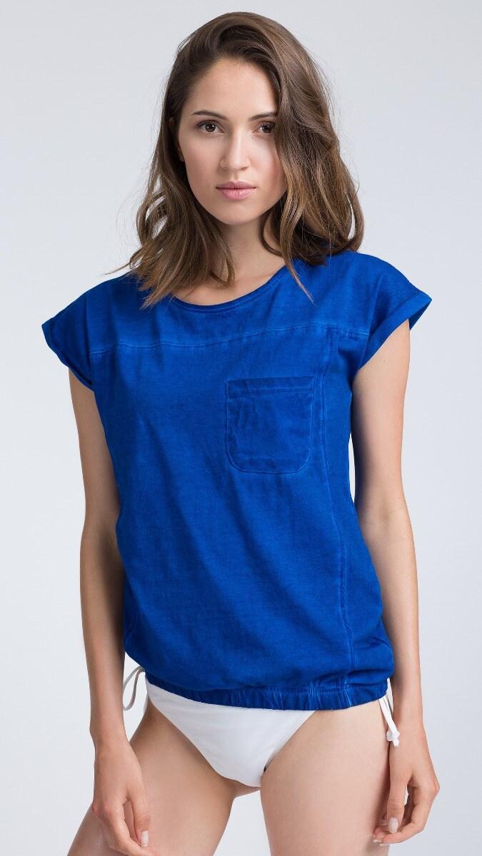 T-shirt damski TSD013 - niebieski
