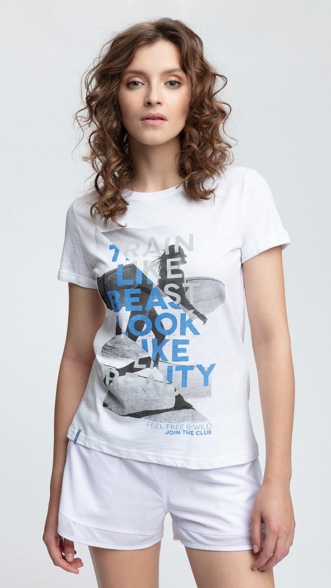 T-shirt damski TSD015 - biały