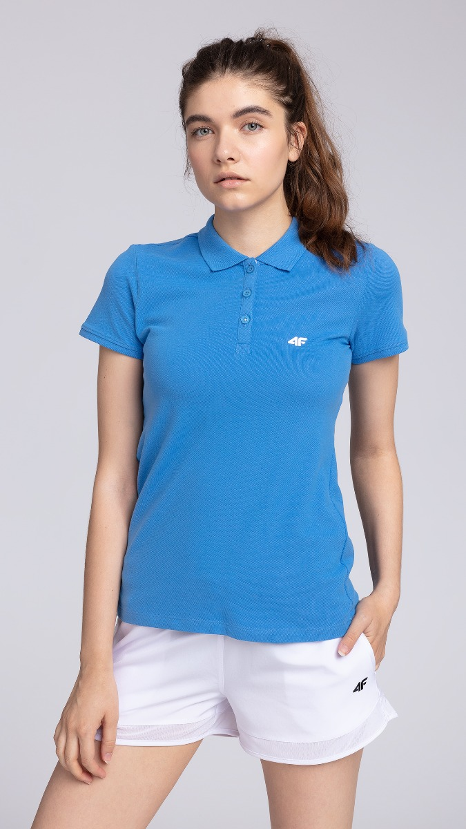 Koszulka polo damska TSD017 - kobalt