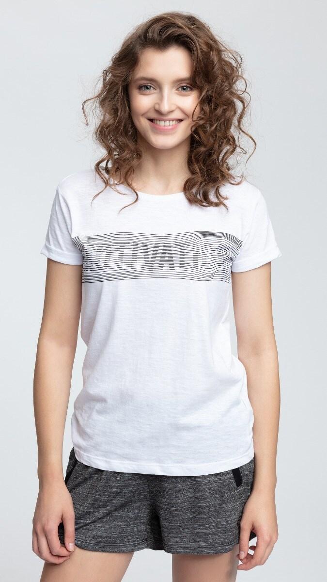 T-shirt damski TSD018 - biały
