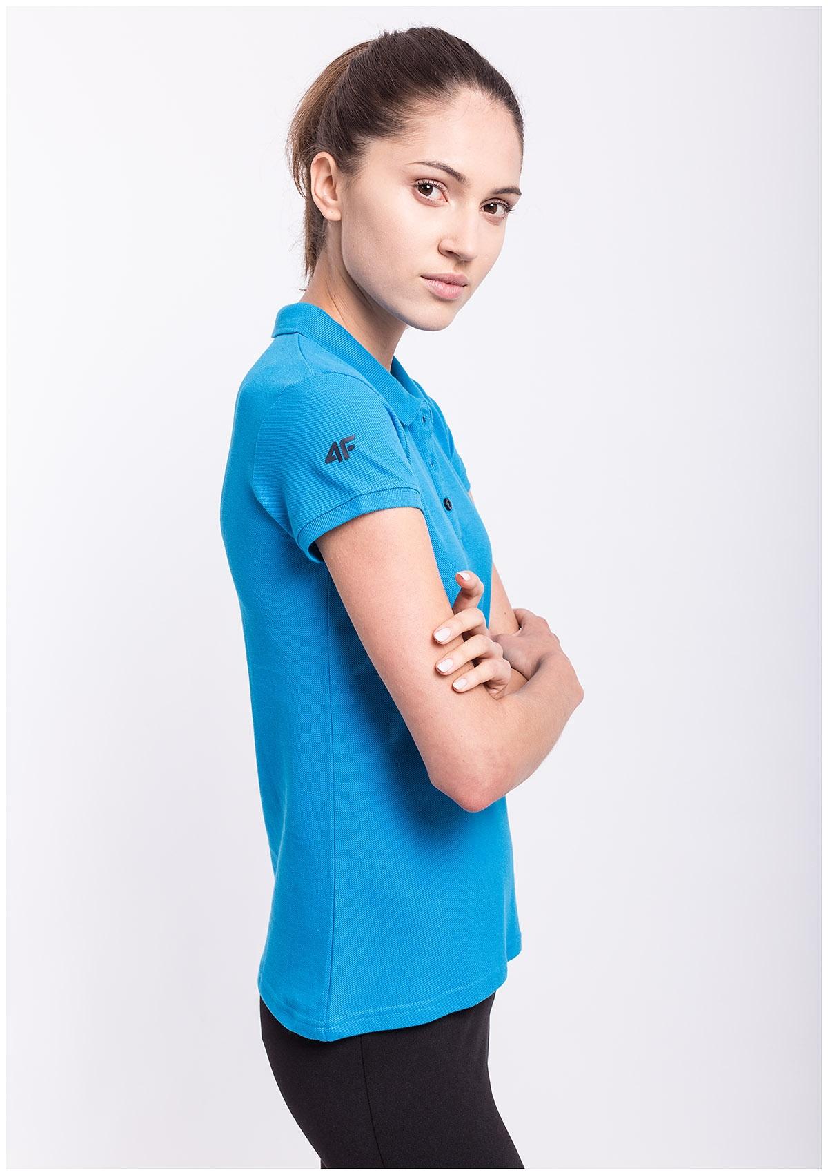 Koszulka polo damska TSD051 - niebieski jasny