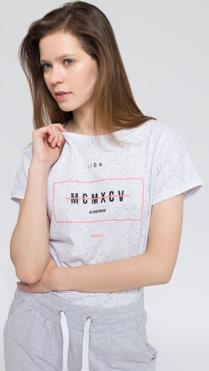 T-shirt damski TSD230 - biały