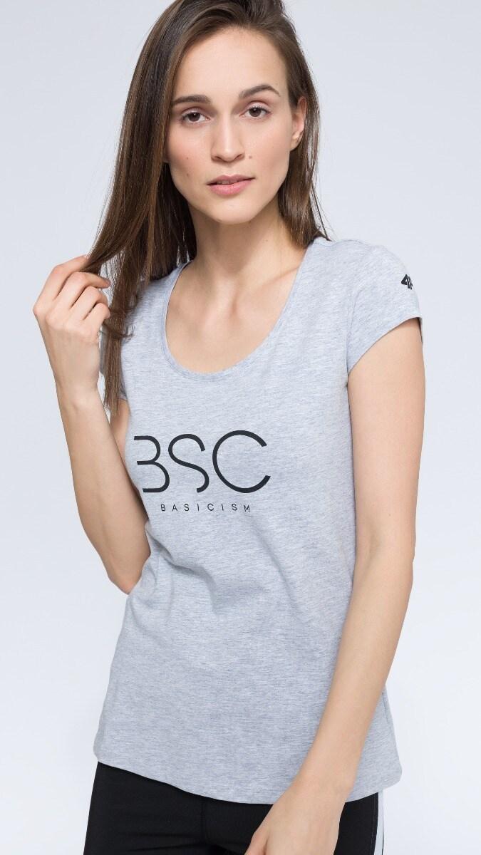 T-shirt damski TSD251 - chłodny jasny szary