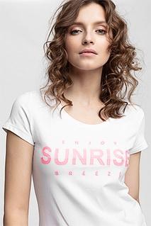 T-shirt damski TSD453 - biały