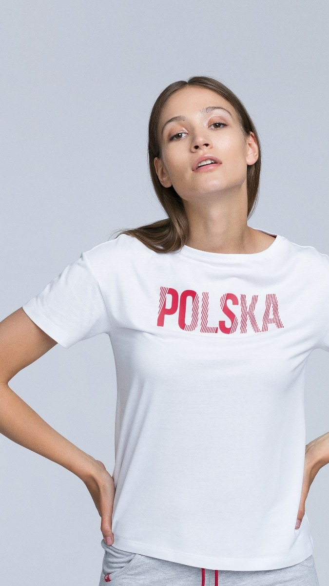 Koszulka kibica damska TSD501 - biały