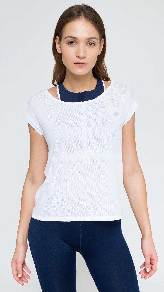 Koszulka treningowa damska TSDF216 - biały