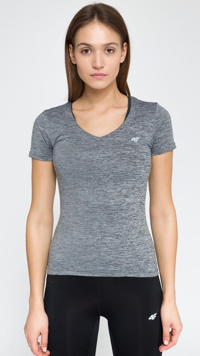 Koszulka treningowa damska TSDF300 - szary melanż