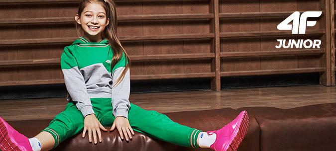 Odzież 4f dla dziewczynki kurtka spodnie koszulka bluza