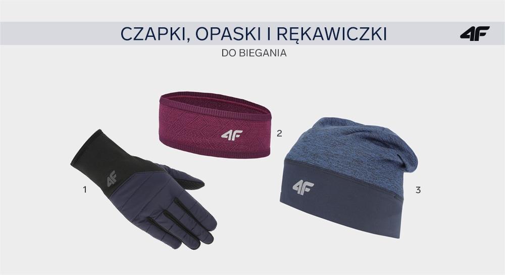Akcesoria: czapka lub opaska do biegania i rękawiczki