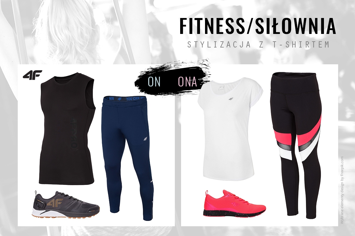 Fitness - stylizacja z t-shirtem