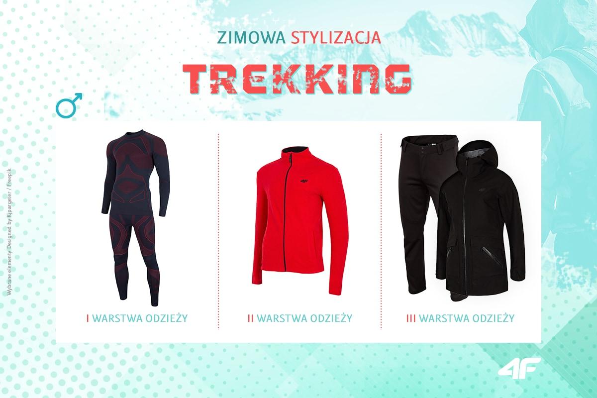 Trekking zimą - stylizacja męska