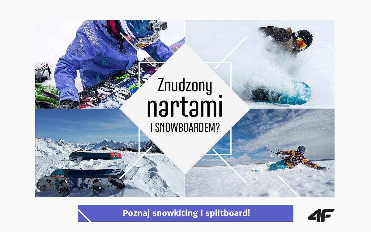 Co to jest snowkitting i splitboard?