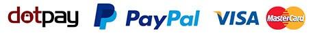 Dotpay, PayPal, VISA, MasterCard